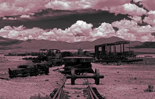 Uyuni, Bolivia train cemetery. DRAMA version of 04 2013